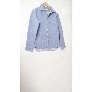 Taylor Stitch heavy blue shirt jacket 40